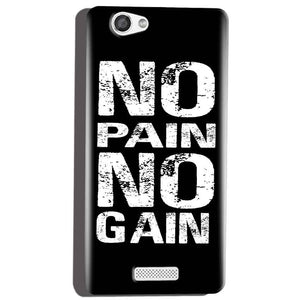 Micromax Canvas Hue 2 A316 Mobile Covers Cases No Pain No Gain Black And White - Lowest Price - Paybydaddy.com
