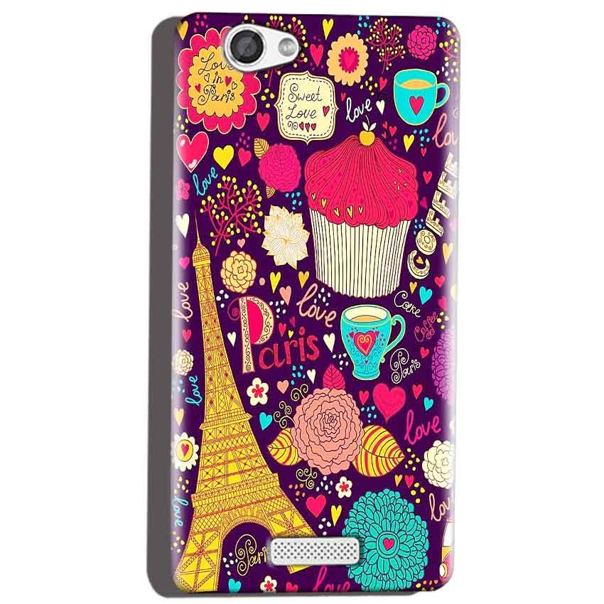 Micromax Canvas Hue 2 A316 Mobile Covers Cases Paris Sweet love - Lowest Price - Paybydaddy.com