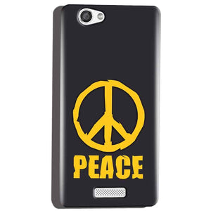 Micromax Canvas Hue 2 A316 Mobile Covers Cases Peace Blue Yellow - Lowest Price - Paybydaddy.com