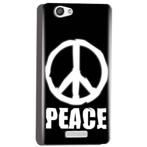 Micromax Canvas Hue 2 A316 Mobile Covers Cases Peace Sign In White - Lowest Price - Paybydaddy.com