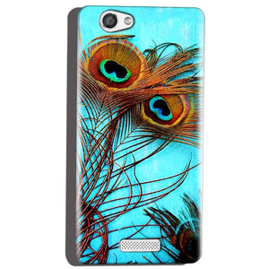 Micromax Canvas Hue 2 A316 Mobile Covers Cases Peacock blue wings - Lowest Price - Paybydaddy.com