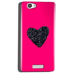 Micromax Canvas Hue 2 A316 Mobile Covers Cases Pink Glitter Heart - Lowest Price - Paybydaddy.com