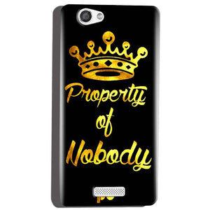 Micromax Canvas Hue 2 A316 Mobile Covers Cases Property of nobody with Crown - Lowest Price - Paybydaddy.com