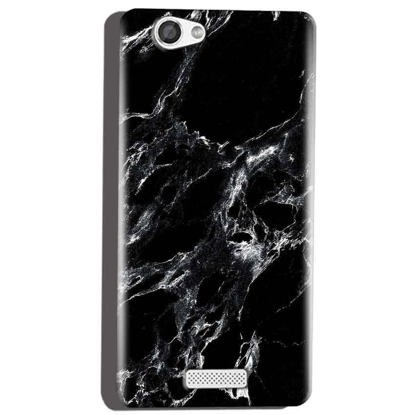 Micromax Canvas Hue 2 A316 Mobile Covers Cases Pure Black Marble Texture - Lowest Price - Paybydaddy.com