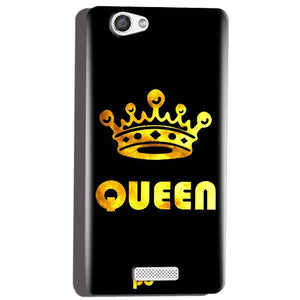 Micromax Canvas Hue 2 A316 Mobile Covers Cases Queen With Crown in gold - Lowest Price - Paybydaddy.com