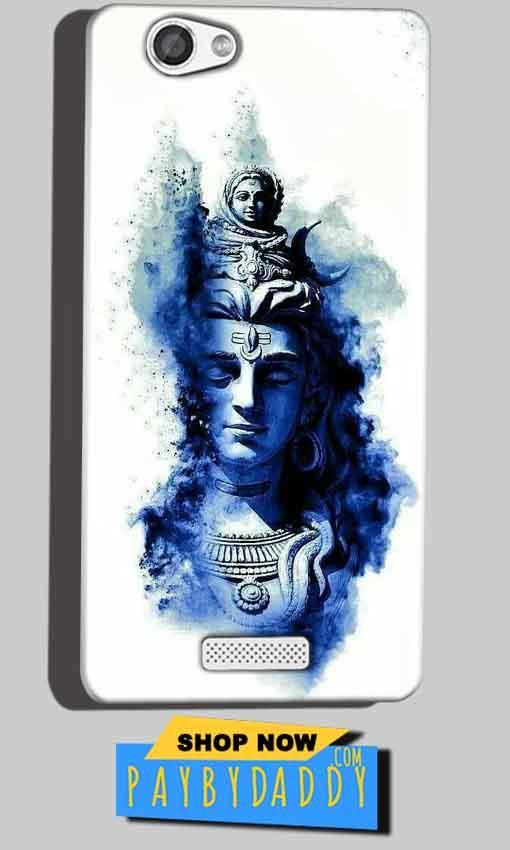 Micromax Canvas Hue 2 A316 Mobile Covers Cases Shiva Blue White - Lowest Price - Paybydaddy.com