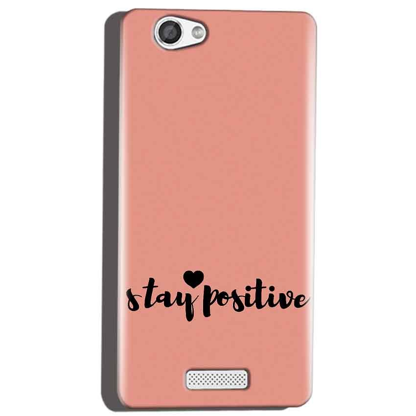 Micromax Canvas Hue 2 A316 Mobile Covers Cases Stay Positive - Lowest Price - Paybydaddy.com