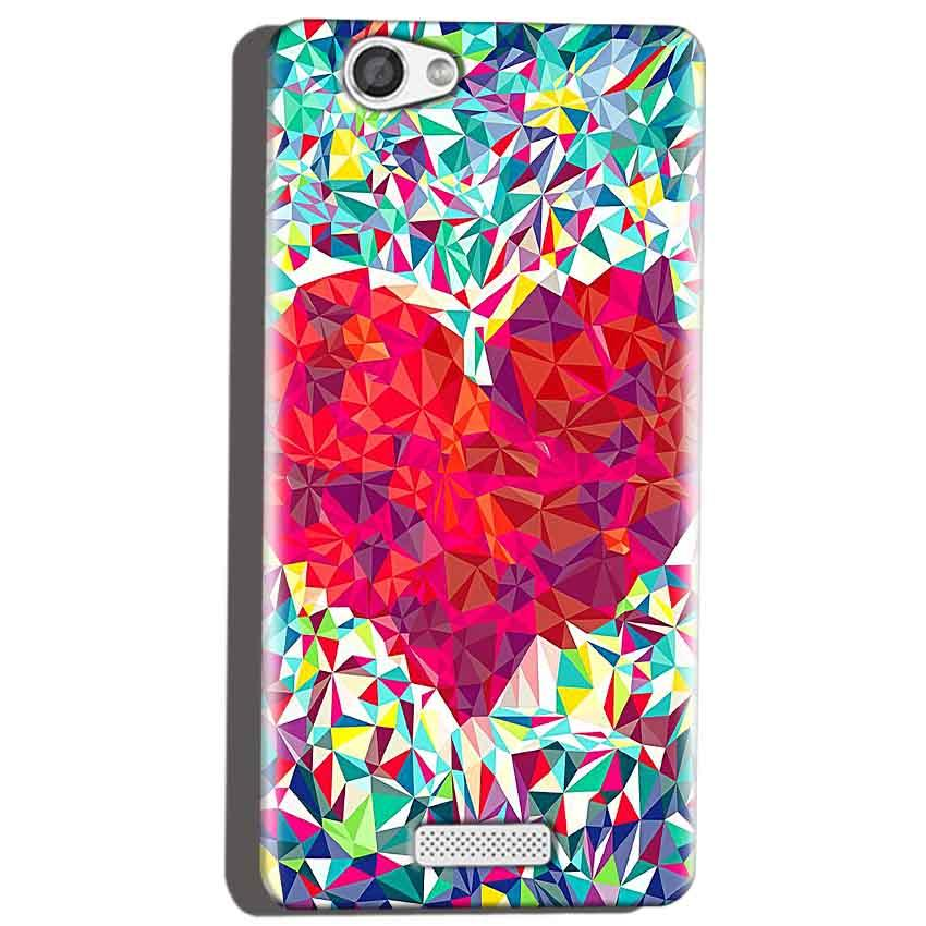 Micromax Canvas Hue 2 A316 Mobile Covers Cases heart Prisma design - Lowest Price - Paybydaddy.com