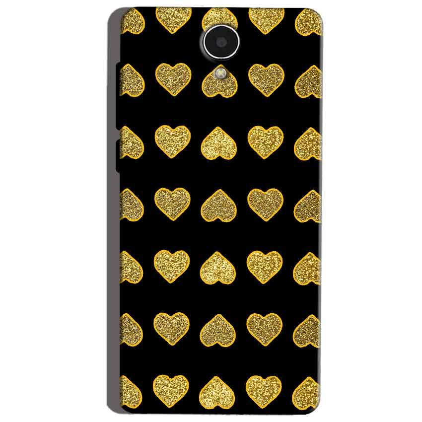 Micromax Canvas Mega 4g Q417 Golden Little Mobile Covers Cases Hearts- Lowest Price - Paybydaddy.com