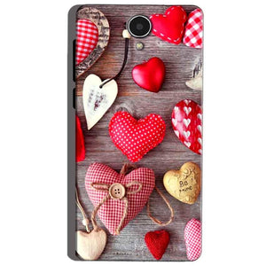 Micromax Canvas Mega 4g Q417 Mobile Covers Cases Hearts- Lowest Price - Paybydaddy.com