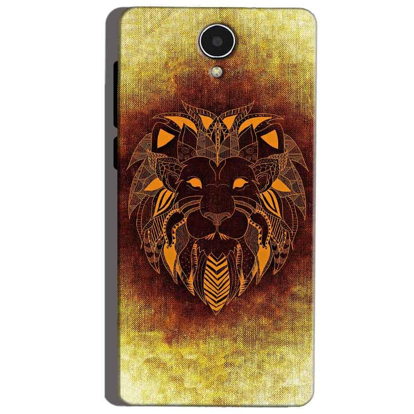 Micromax Canvas Mega 4g Q417 Mobile Covers Cases Lion face art - Lowest Price - Paybydaddy.com