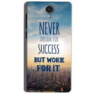 Micromax Canvas Mega 4g Q417 Mobile Covers Cases Never Dreams For Success But Work For It Quote - Lowest Price - Paybydaddy.com