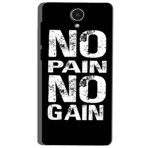 Micromax Canvas Mega 4g Q417 Mobile Covers Cases No Pain No Gain Black And White - Lowest Price - Paybydaddy.com