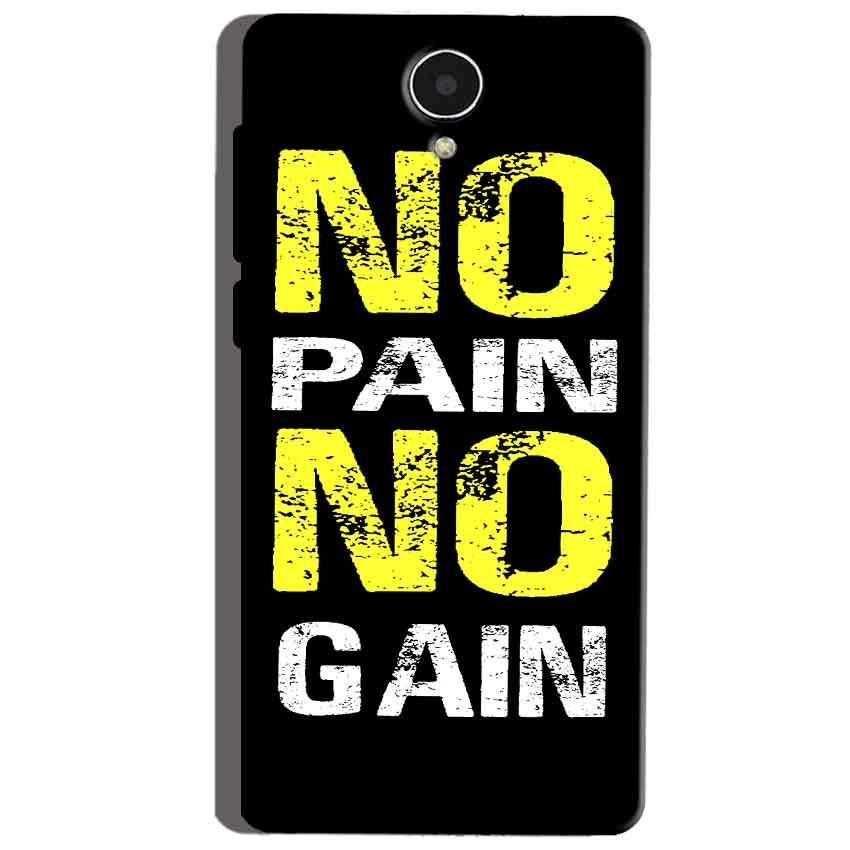 Micromax Canvas Mega 4g Q417 Mobile Covers Cases No Pain No Gain Yellow Black - Lowest Price - Paybydaddy.com