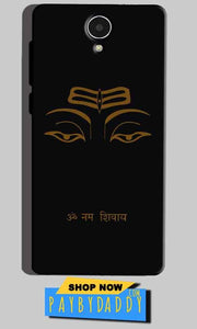Micromax Canvas Mega 4g Q417 Mobile Covers Cases Om Namaha Gold Black - Lowest Price - Paybydaddy.com