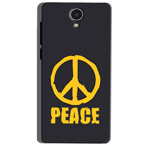 Micromax Canvas Mega 4g Q417 Mobile Covers Cases Peace Blue Yellow - Lowest Price - Paybydaddy.com