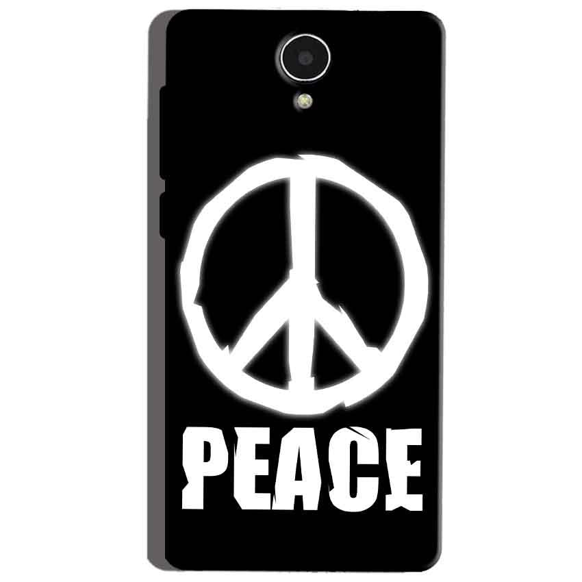 Micromax Canvas Mega 4g Q417 Mobile Covers Cases Peace Sign In White - Lowest Price - Paybydaddy.com