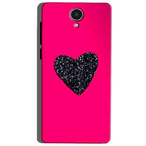 Micromax Canvas Mega 4g Q417 Mobile Covers Cases Pink Glitter Heart - Lowest Price - Paybydaddy.com