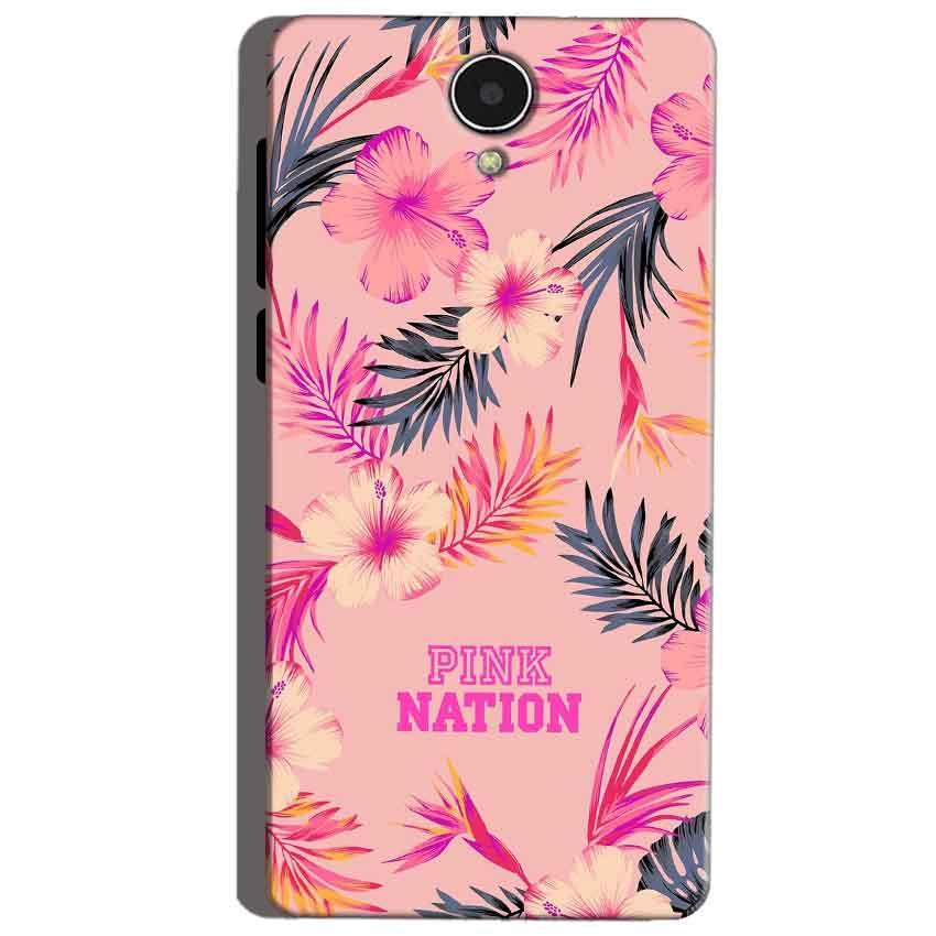 Micromax Canvas Mega 4g Q417 Mobile Covers Cases Pink nation - Lowest Price - Paybydaddy.com