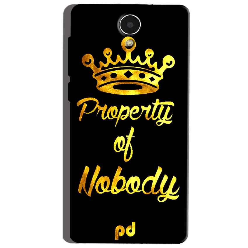 Micromax Canvas Mega 4g Q417 Mobile Covers Cases Property of nobody with Crown - Lowest Price - Paybydaddy.com