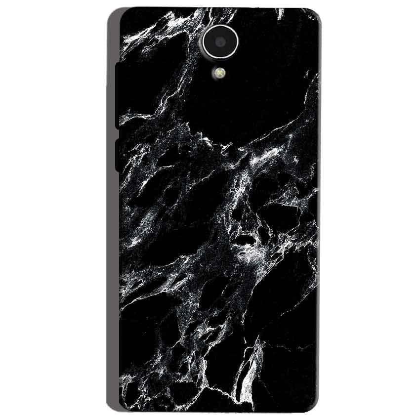 Micromax Canvas Mega 4g Q417 Mobile Covers Cases Pure Black Marble Texture - Lowest Price - Paybydaddy.com