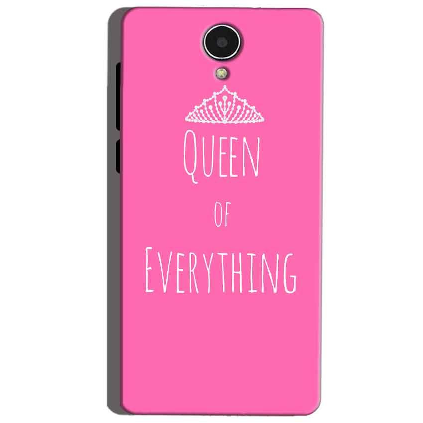 Micromax Canvas Mega 4g Q417 Mobile Covers Cases Queen Of Everything Pink White - Lowest Price - Paybydaddy.com