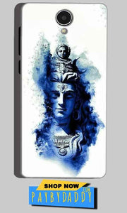 Micromax Canvas Mega 4g Q417 Mobile Covers Cases Shiva Blue White - Lowest Price - Paybydaddy.com