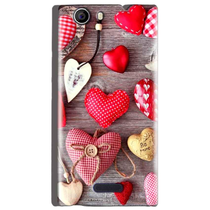 Micromax Canvas Nitro 2 E311 Mobile Covers Cases Hearts- Lowest Price - Paybydaddy.com