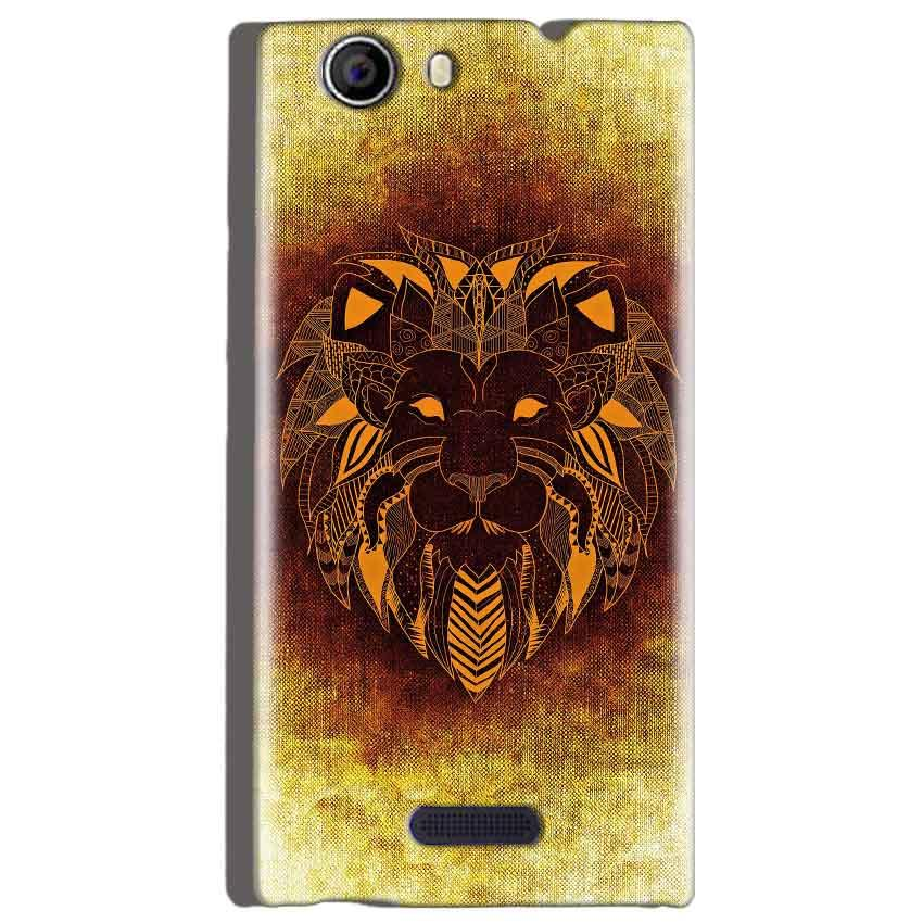 Micromax Canvas Nitro 2 E311 Mobile Covers Cases Lion face art - Lowest Price - Paybydaddy.com