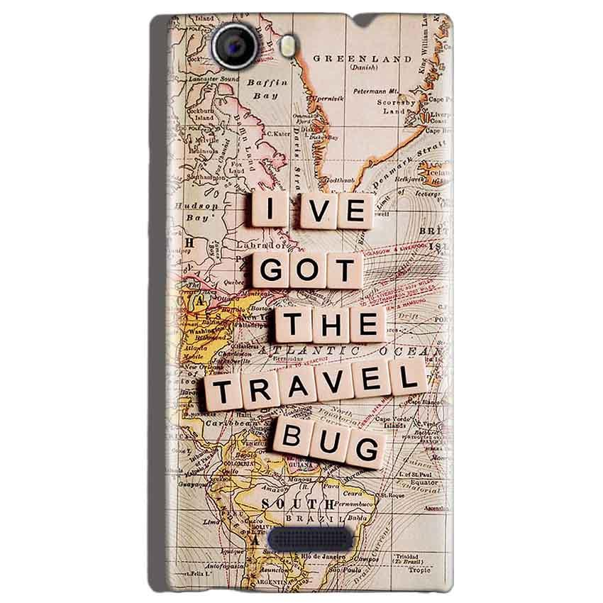 Micromax Canvas Nitro 2 E311 Mobile Covers Cases Live Travel Bug - Lowest Price - Paybydaddy.com
