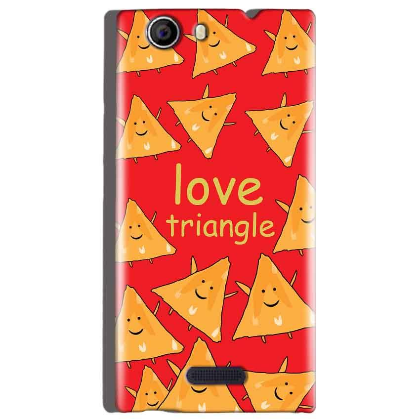 Micromax Canvas Nitro 2 E311 Mobile Covers Cases Love Triangle - Lowest Price - Paybydaddy.com