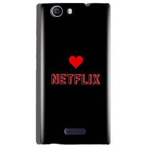 Micromax Canvas Nitro 2 E311 Mobile Covers Cases NETFLIX WITH HEART - Lowest Price - Paybydaddy.com