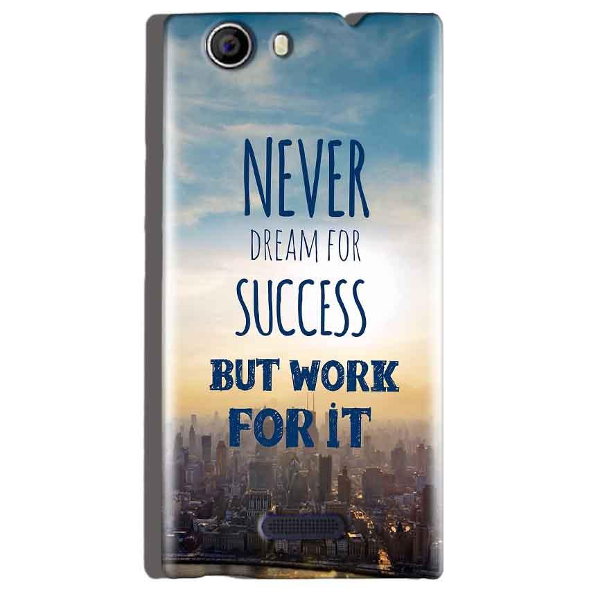 Micromax Canvas Nitro 2 E311 Mobile Covers Cases Never Dreams For Success But Work For It Quote - Lowest Price - Paybydaddy.com