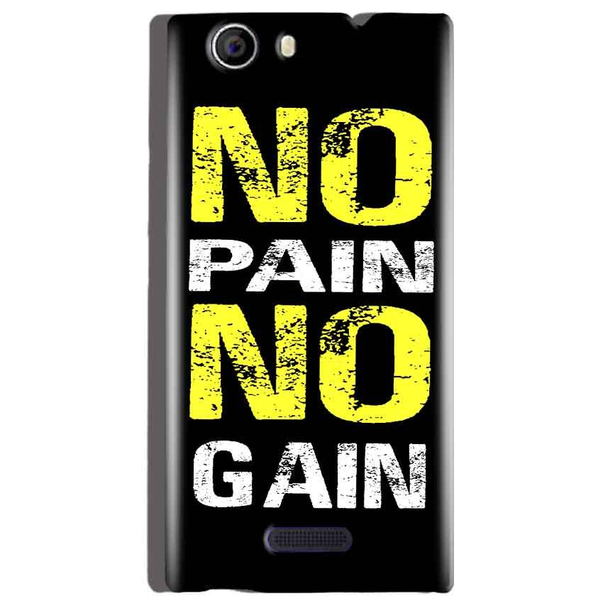 Micromax Canvas Nitro 2 E311 Mobile Covers Cases No Pain No Gain Yellow Black - Lowest Price - Paybydaddy.com