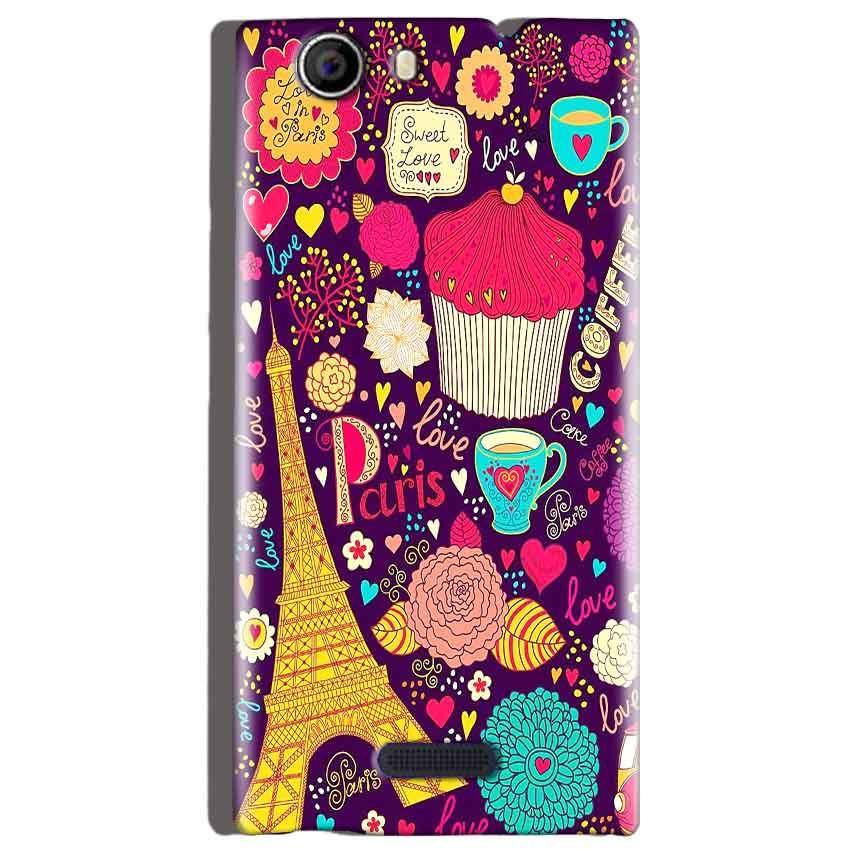 Micromax Canvas Nitro 2 E311 Mobile Covers Cases Paris Sweet love - Lowest Price - Paybydaddy.com