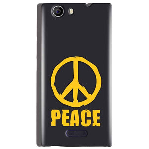 Micromax Canvas Nitro 2 E311 Mobile Covers Cases Peace Blue Yellow - Lowest Price - Paybydaddy.com