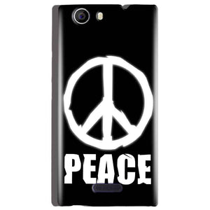 Micromax Canvas Nitro 2 E311 Mobile Covers Cases Peace Sign In White - Lowest Price - Paybydaddy.com