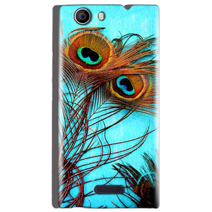 Micromax Canvas Nitro 2 E311 Mobile Covers Cases Peacock blue wings - Lowest Price - Paybydaddy.com