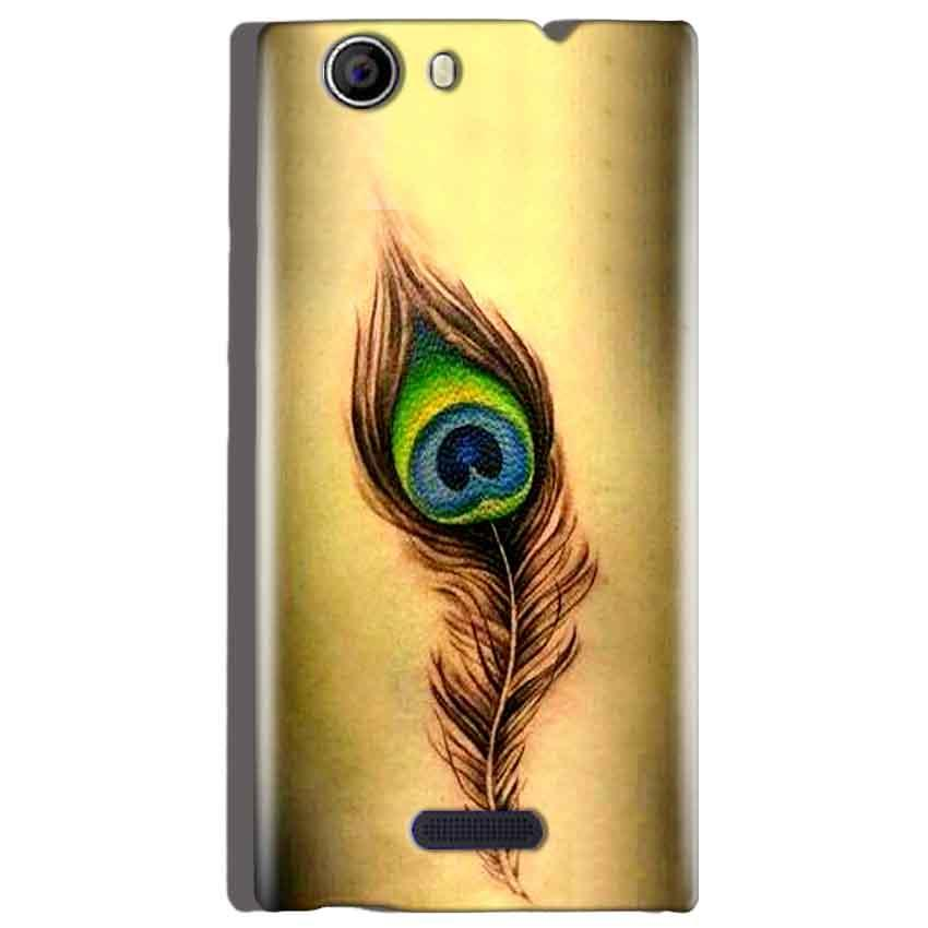 Micromax Canvas Nitro 2 E311 Mobile Covers Cases Peacock coloured art - Lowest Price - Paybydaddy.com