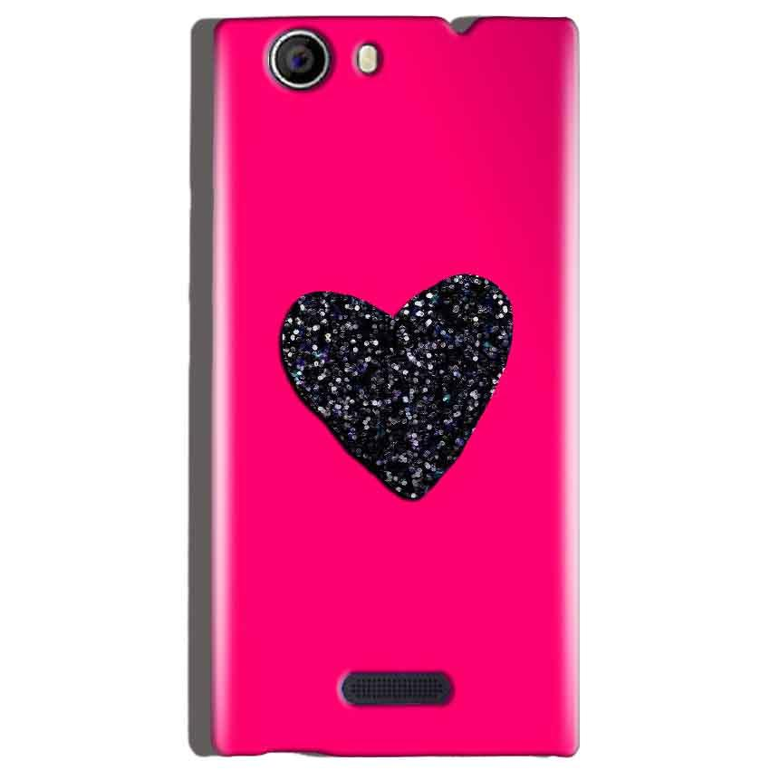 Micromax Canvas Nitro 2 E311 Mobile Covers Cases Pink Glitter Heart - Lowest Price - Paybydaddy.com