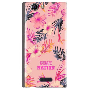 Micromax Canvas Nitro 2 E311 Mobile Covers Cases Pink nation - Lowest Price - Paybydaddy.com