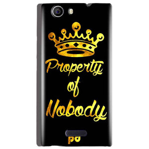 Micromax Canvas Nitro 2 E311 Mobile Covers Cases Property of nobody with Crown - Lowest Price - Paybydaddy.com