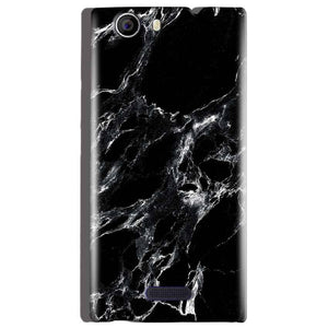 Micromax Canvas Nitro 2 E311 Mobile Covers Cases Pure Black Marble Texture - Lowest Price - Paybydaddy.com