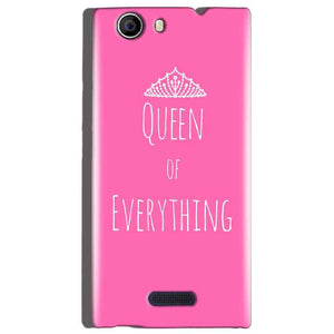Micromax Canvas Nitro 2 E311 Mobile Covers Cases Queen Of Everything Pink White - Lowest Price - Paybydaddy.com