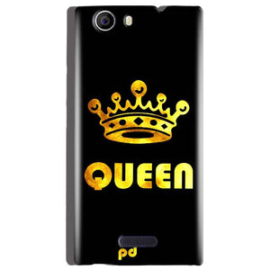 Micromax Canvas Nitro 2 E311 Mobile Covers Cases Queen With Crown in gold - Lowest Price - Paybydaddy.com
