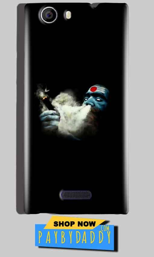 Micromax Canvas Nitro 2 E311 Mobile Covers Cases Shiva Aghori Smoking - Lowest Price - Paybydaddy.com