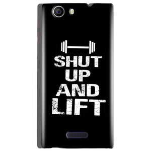 Micromax Canvas Nitro 2 E311 Mobile Covers Cases Shut Up And Lift - Lowest Price - Paybydaddy.com