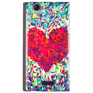 Micromax Canvas Nitro 2 E311 Mobile Covers Cases heart Prisma design - Lowest Price - Paybydaddy.com