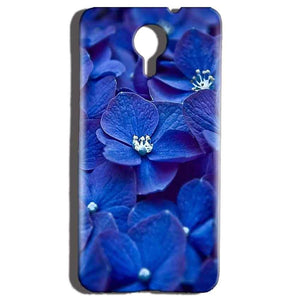 Micromax Canvas Nitro 4g E455 Mobile Covers Cases Blue flower - Lowest Price - Paybydaddy.com