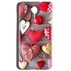 Micromax Canvas Nitro 4g E455 Mobile Covers Cases Hearts- Lowest Price - Paybydaddy.com
